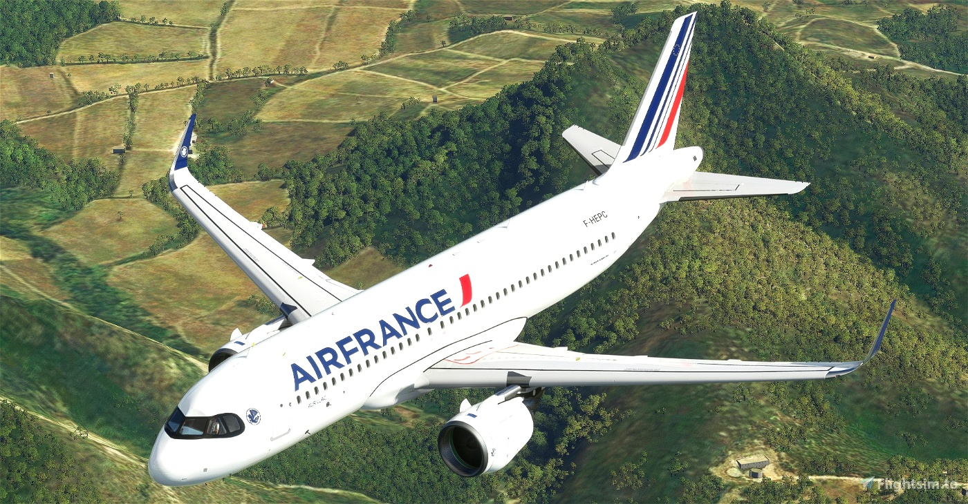 """Air France """"Basse-Terre""""Figari""""Metz"""" Chambery""""Cassis""""Biarritz"""" NEW LIVERY (2021) A320neo 8K"""
