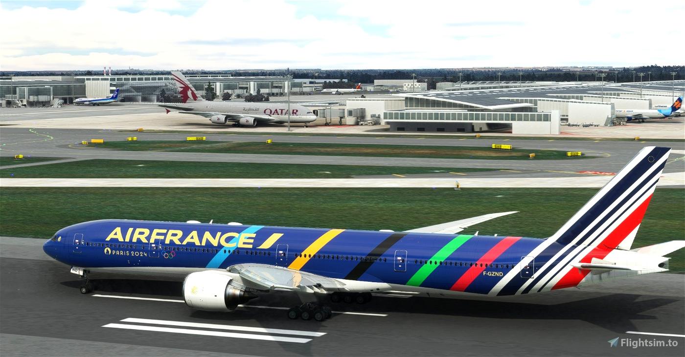 "Air France ""Olympic Games 2024 / Jeux Olympiques 2024"" concept CaptainSim 777-300ER"