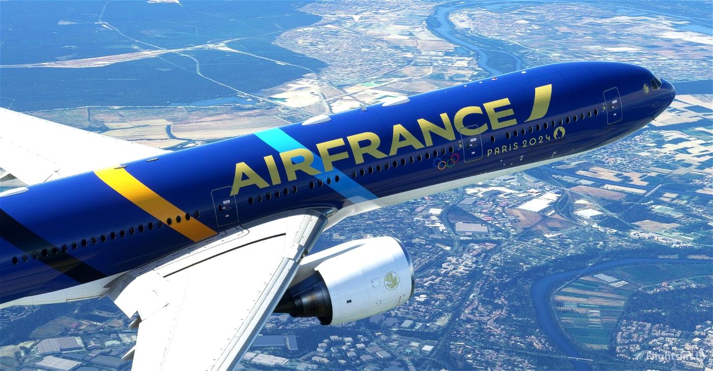 "Air France ""Olympic Games 2024 / Jeux Olympiques 2024"" concept CaptainSim 777-300ER Microsoft Flight Simulator"