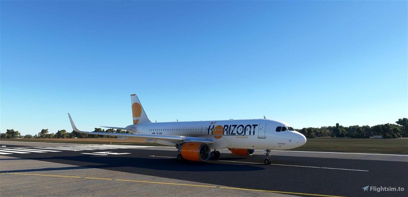 Air Horizont livery for FBW A32NX. Microsoft Flight Simulator