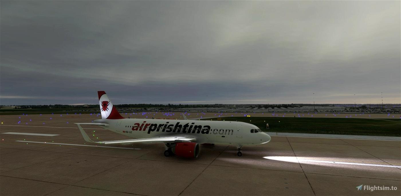 Air Prishtina livery for FBW A32NX