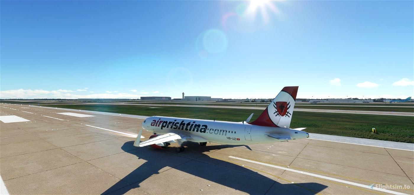 Air Prishtina livery for FBW A32NX Microsoft Flight Simulator