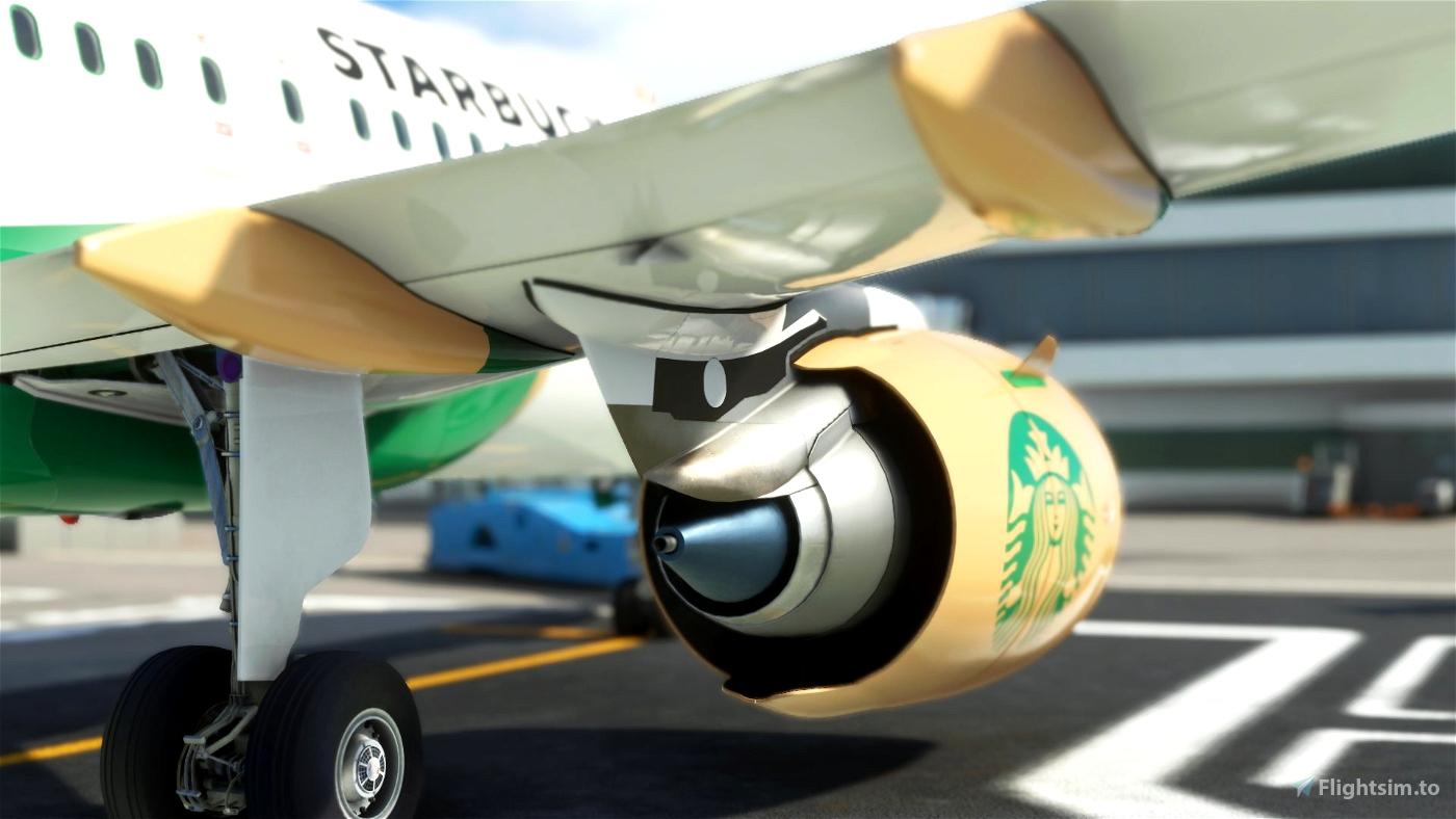 Airbus A32NX Starbucks PSL [8K]