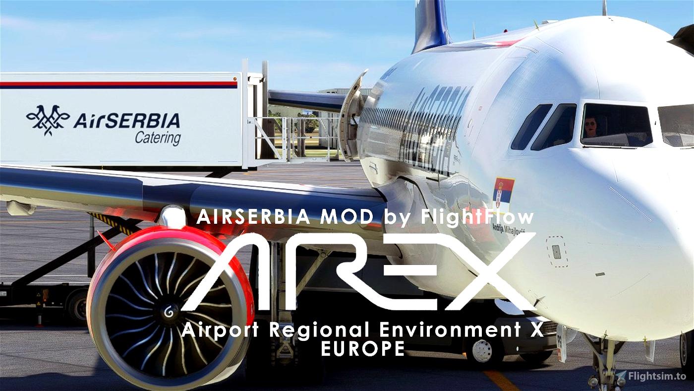 AIRSERBIA - AREX Ground Services Mod   by FlightFlow Microsoft Flight Simulator