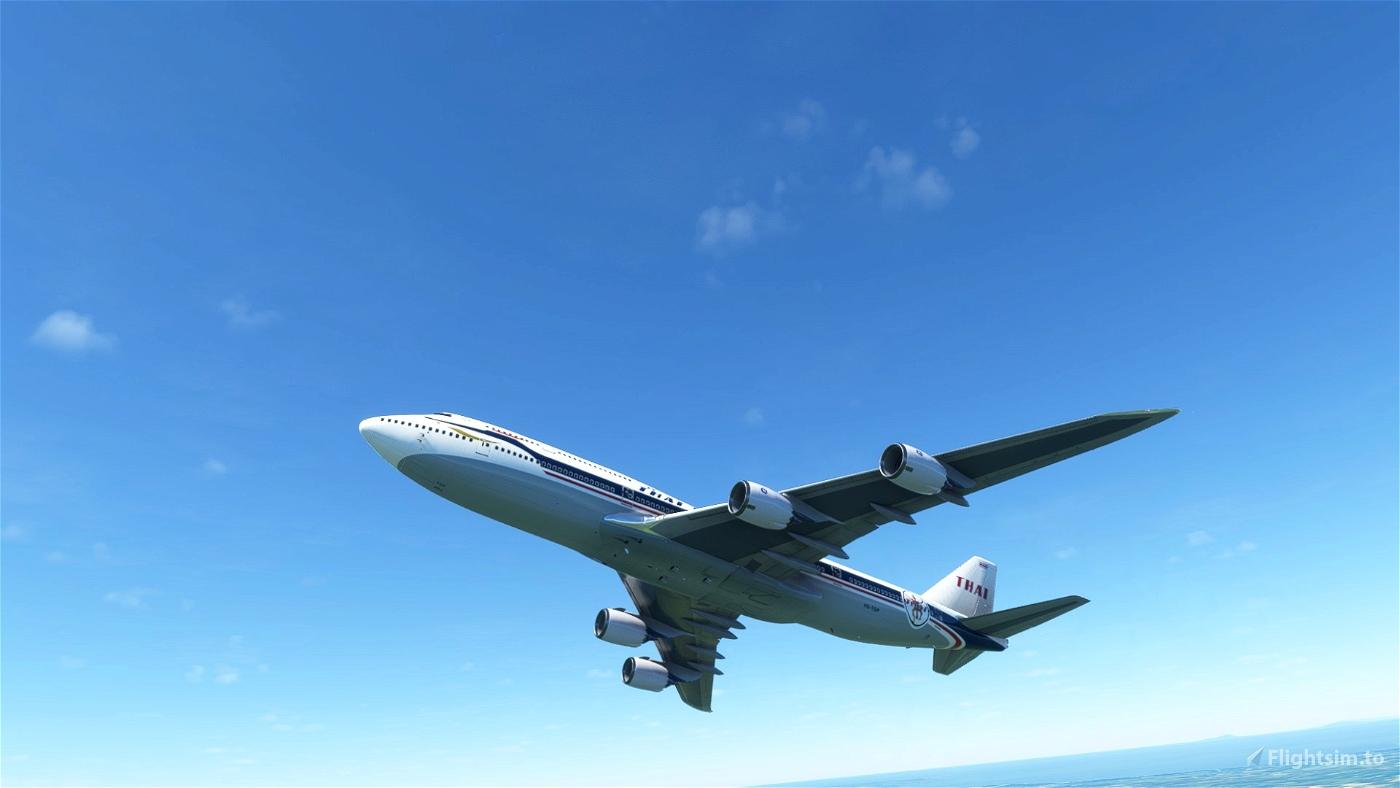 Asobo 747-8i Thai Airways Retro [No mirroring]