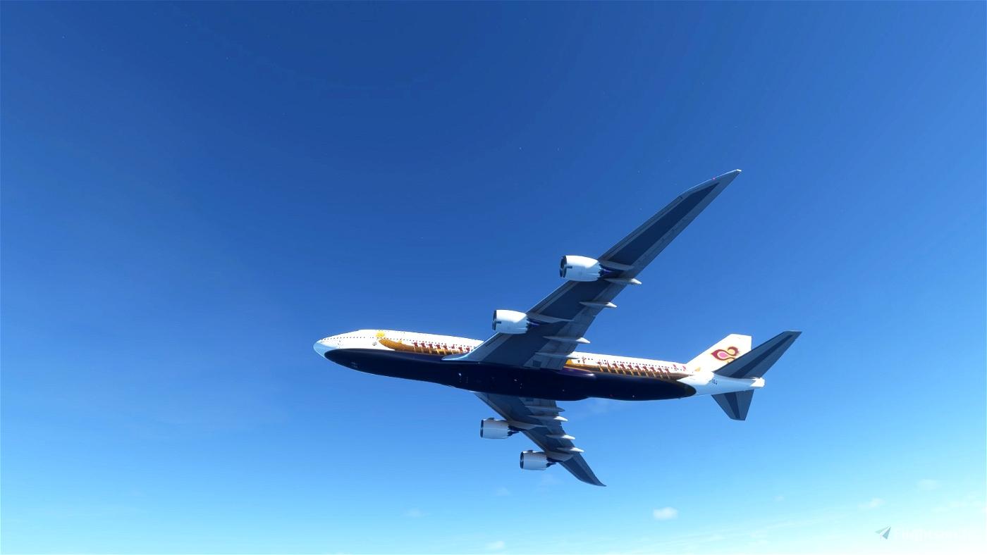 Asobo 747-8i Thai Royal Barge [No mirroring]