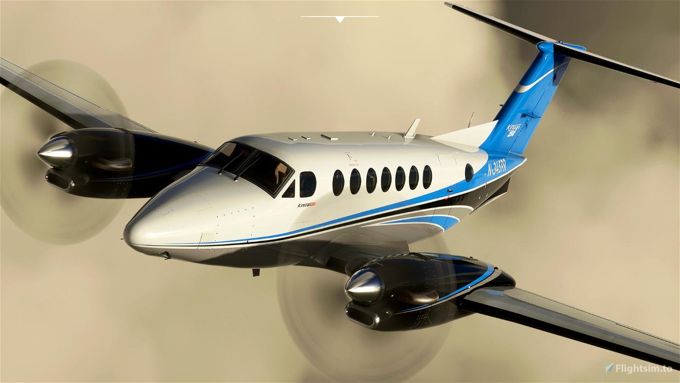 Asobo_King Air_N-345PR