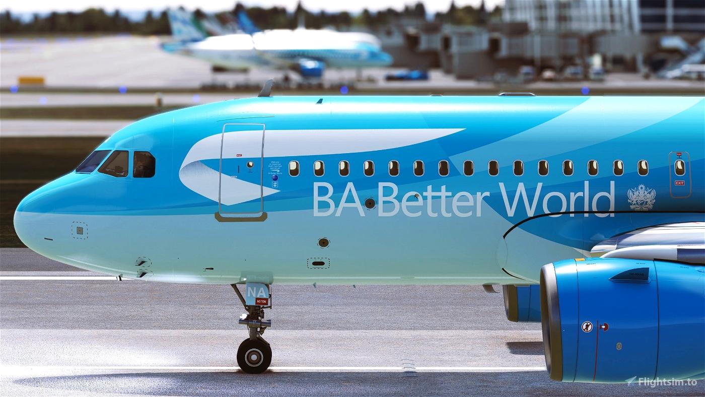 BA Better World for FBW A32NX Microsoft Flight Simulator