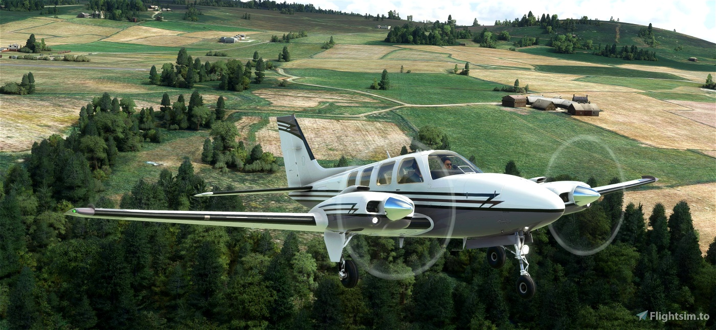 Beechcraft Baron Trident Microsoft Flight Simulator