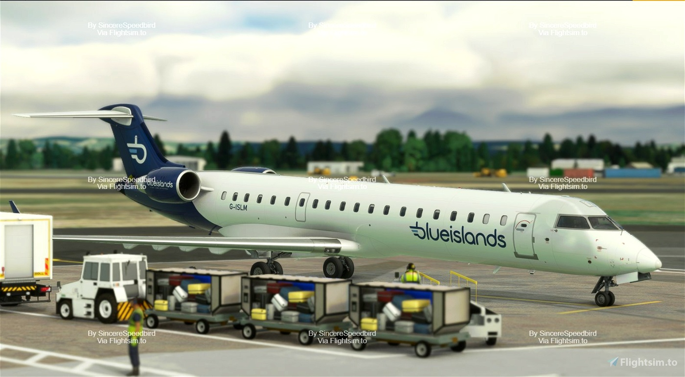 Blue Islands | Aerosoft CRJ 700 [Fictional] Microsoft Flight Simulator