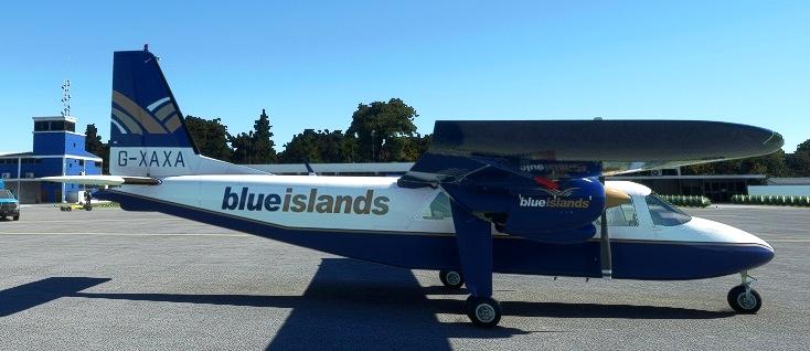 BN2A Blue Islands G-XAXA request Microsoft Flight Simulator