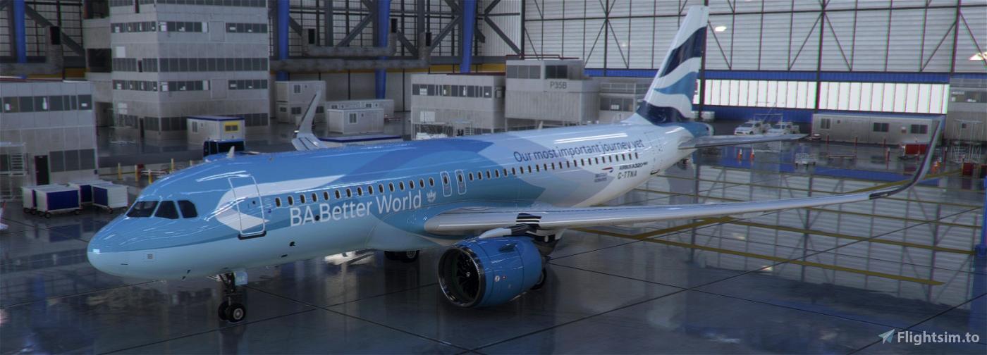 [A32NX] British Airways G-TTNA Better World Livery 8K Microsoft Flight Simulator