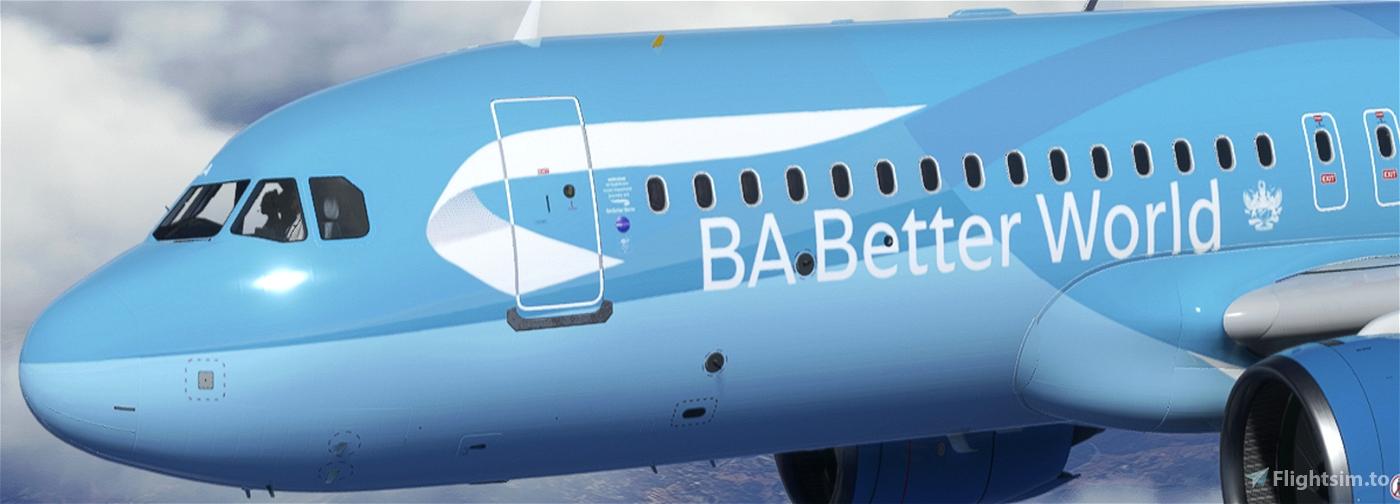 [A32NX] British Airways G-TTNA Better World Livery 8K