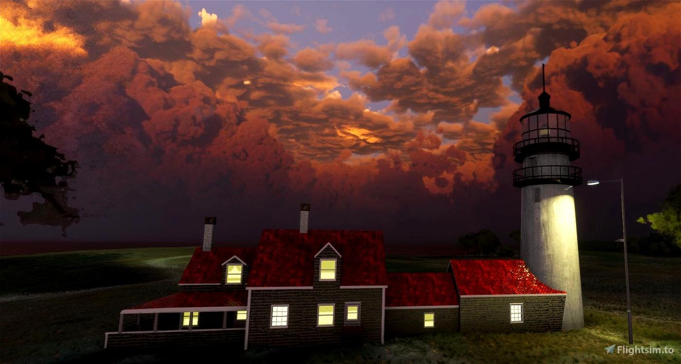Cape Cod Airfield and 5 Lighthouse bundle Microsoft Flight Simulator