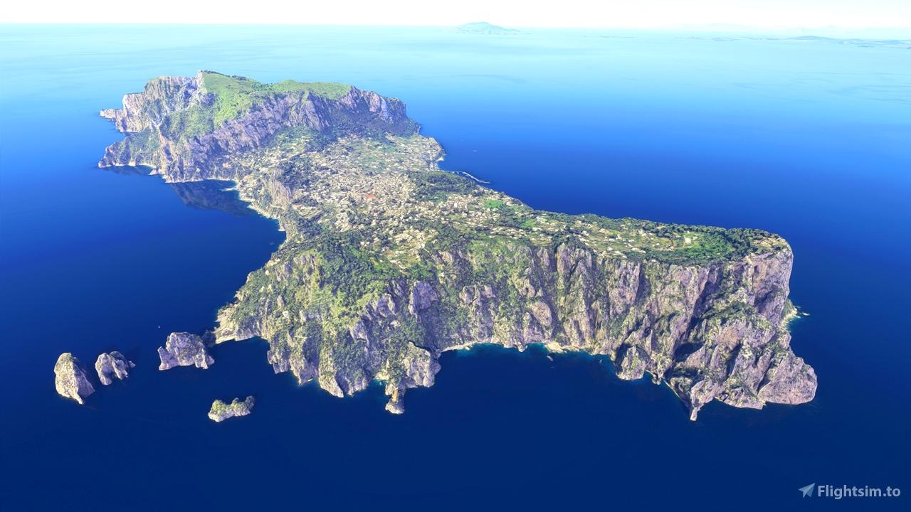 Capri, Italy Microsoft Flight Simulator