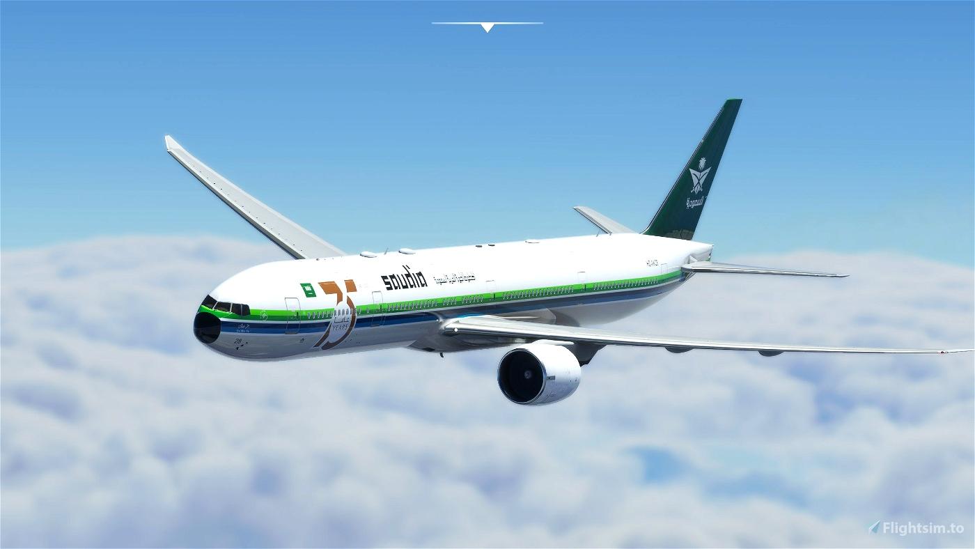Captain Sim B777-300ER Saudia 75 Years anniversary (HZ-AK28) Microsoft Flight Simulator