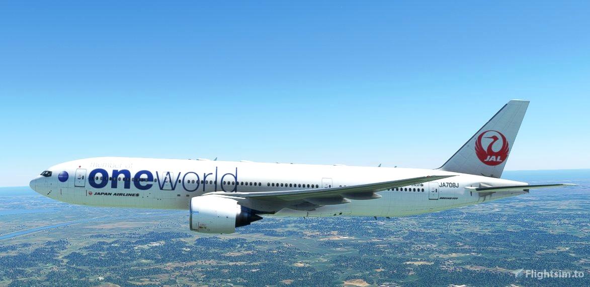 CaptainSim 777-200 Japan Airlines (oneworld livery) - JA708J