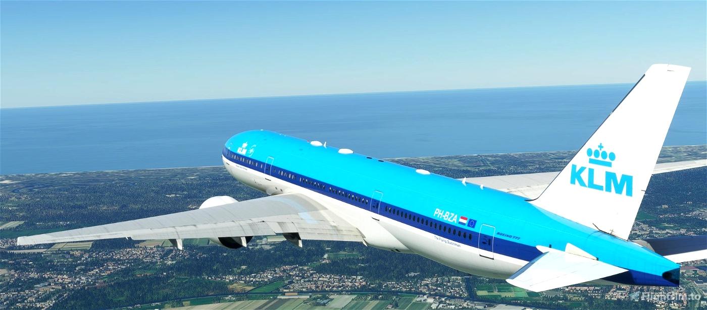 CaptainSim 777-200 KLM (classic livery) [8K Fictional]