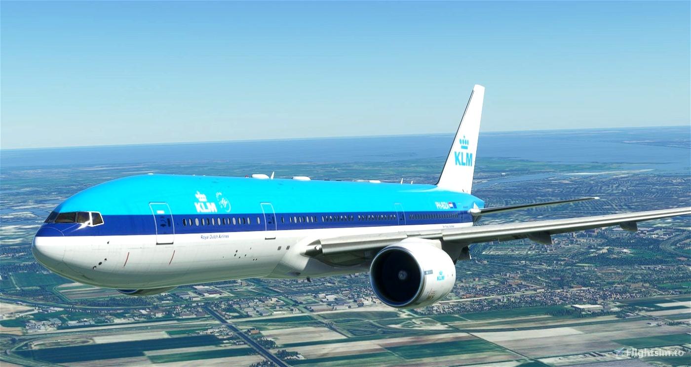 CaptainSim 777-200 KLM (classic livery) [8K Fictional] Microsoft Flight Simulator