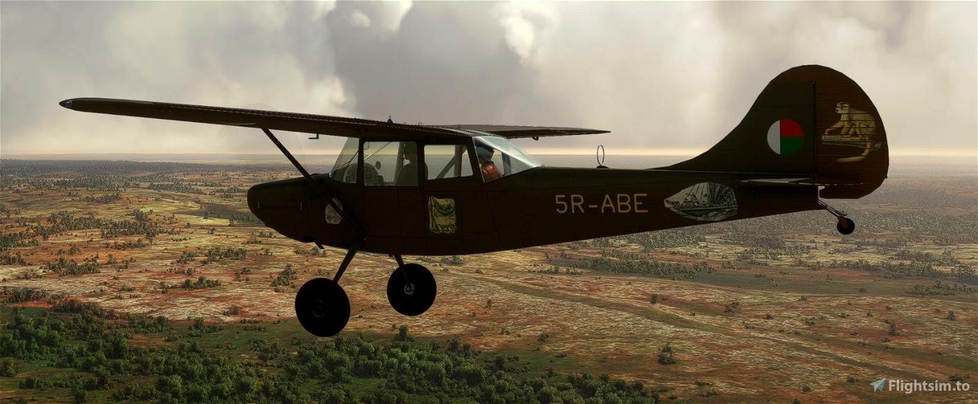 Cessna Bird Dog L-19A Madagascar 5R-ABE with tundra wheels