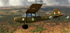 Cessna Bird Dog L-19A Madagascar 5R-ABE with tundra wheels Microsoft Flight Simulator