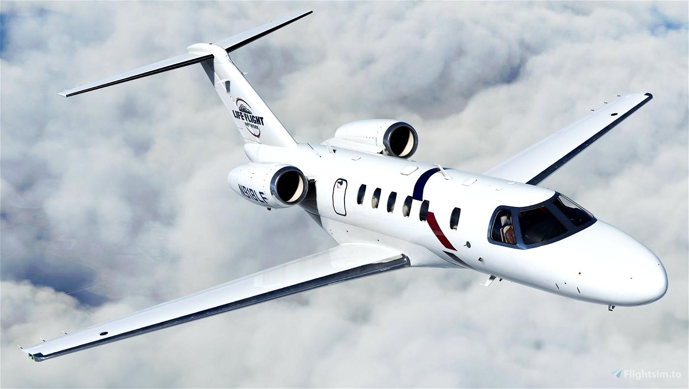 Cessna Citation CJ4 - Life Flight Network (N918LF)  Microsoft Flight Simulator
