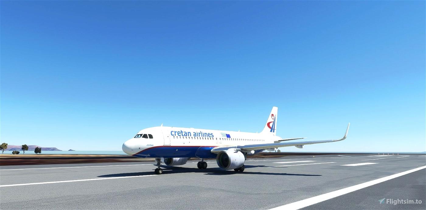 Cretan Airlines livery for FBW A32NX Microsoft Flight Simulator