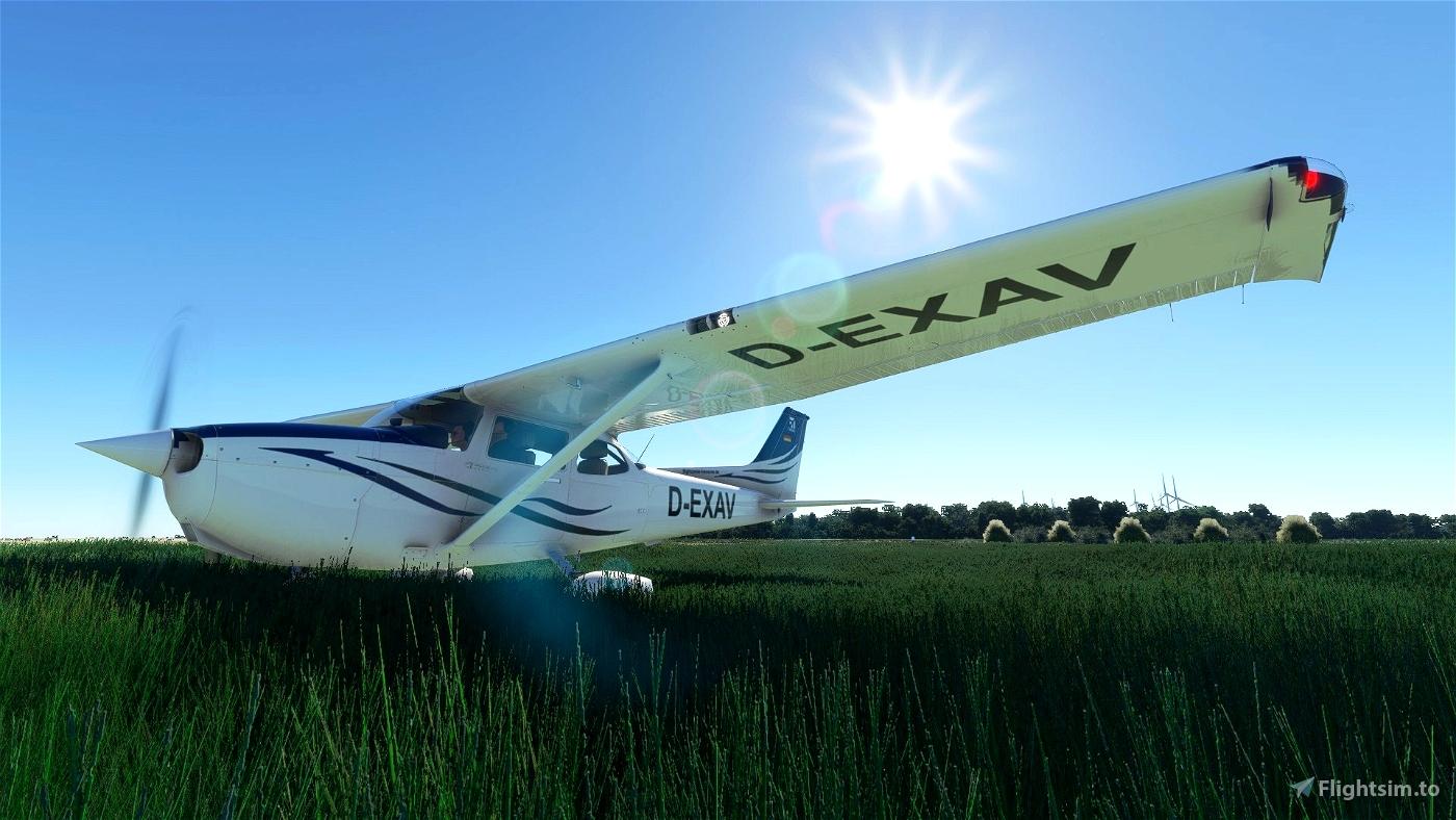 """D-EXAV """"Flightcenter Hannover"""" (C172 G1000) Microsoft Flight Simulator"""