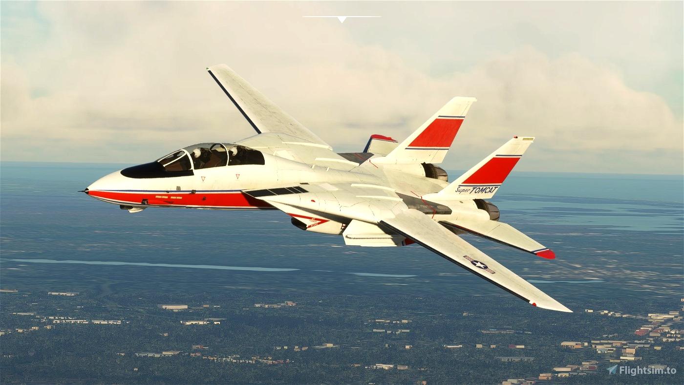 DC Designs F-14 B Grumman testbed Microsoft Flight Simulator