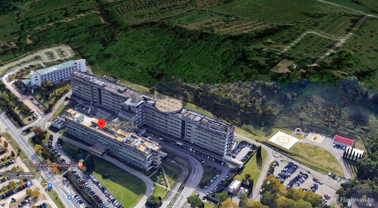 Elisuperficie dell'Ospedale di Firenze Microsoft Flight Simulator