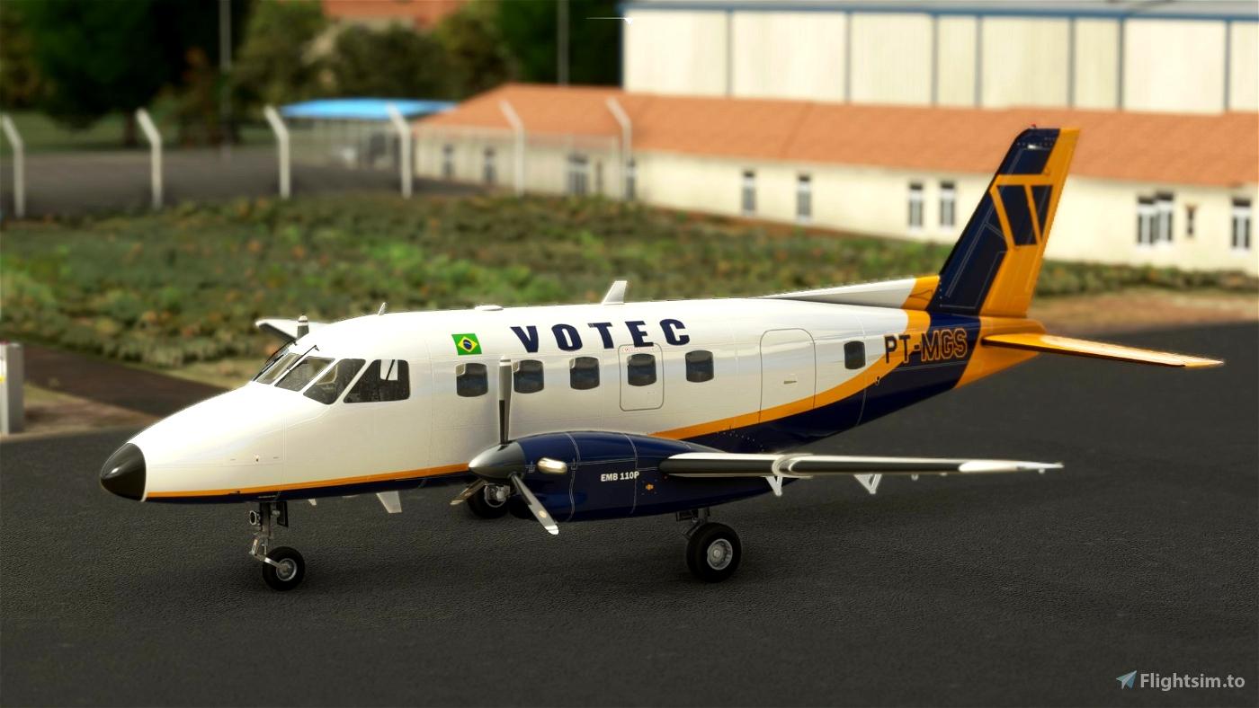 EMB 110P 1 / VOTEC ( 8K ) Microsoft Flight Simulator
