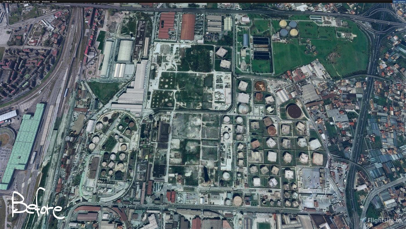 Napoli: Ex oil rafinery of Naples - Zona industriale  Microsoft Flight Simulator