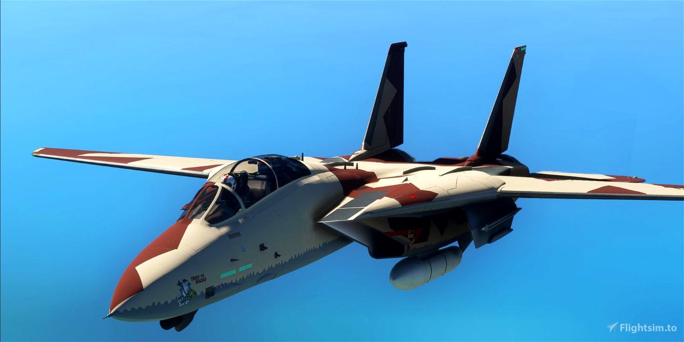"""""""F-14 """"Thief Of Baghdad"""" VF 24  Microsoft Flight Simulator"""