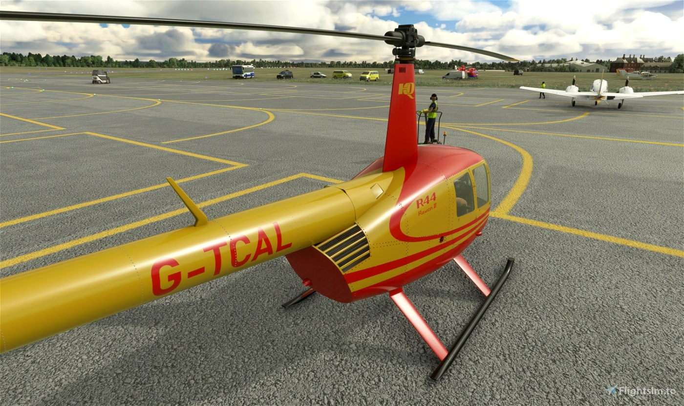 G-TCAL Red & Gold   Robinson R44   8K