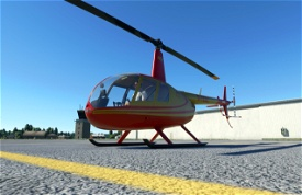 G-TCAL Red & Gold   Robinson R44   8K Microsoft Flight Simulator