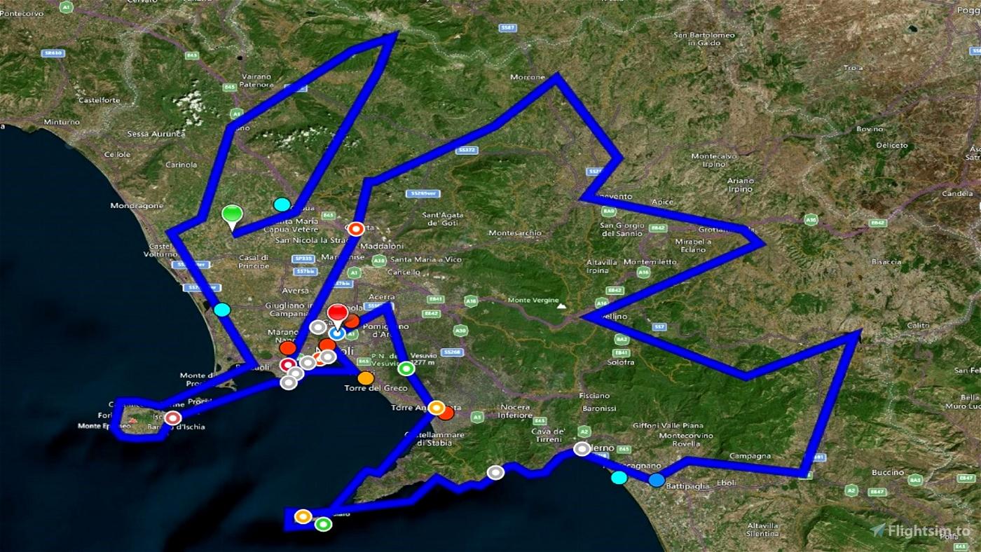 Giro Turistico Campania Microsoft Flight Simulator