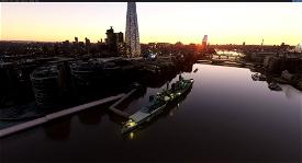 HMS Belfast. moored on the River Thames, London Microsoft Flight Simulator
