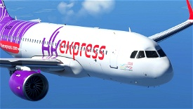 [A32NX] Hong Kong Express [8K] Microsoft Flight Simulator