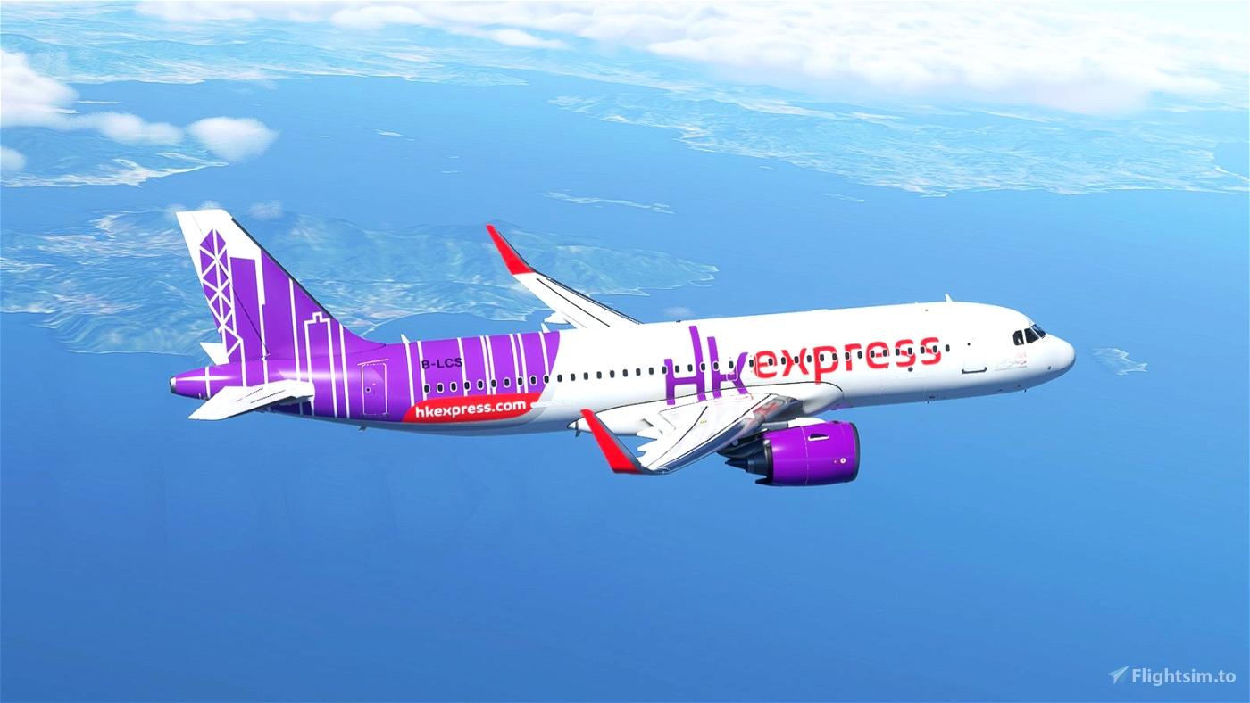 [A32NX] Hong Kong Express [8K]