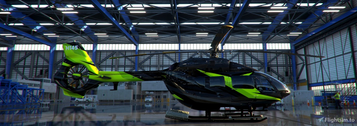 HPG AIRBUS H145 LUX GREEN LIVERY