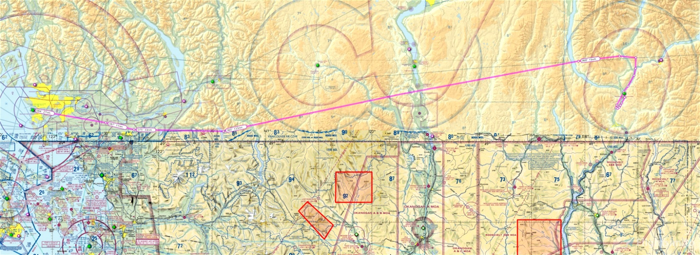 The Most Notorious Approach in Canada IFR GPS Flightplan Route Vancouver to Castlegar Microsoft Flight Simulator