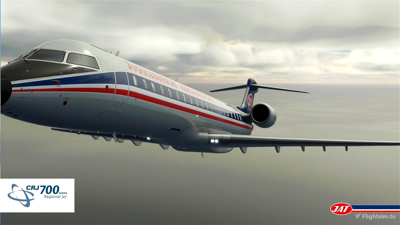 JAT retro livery 1980 (B-727)   crj 700