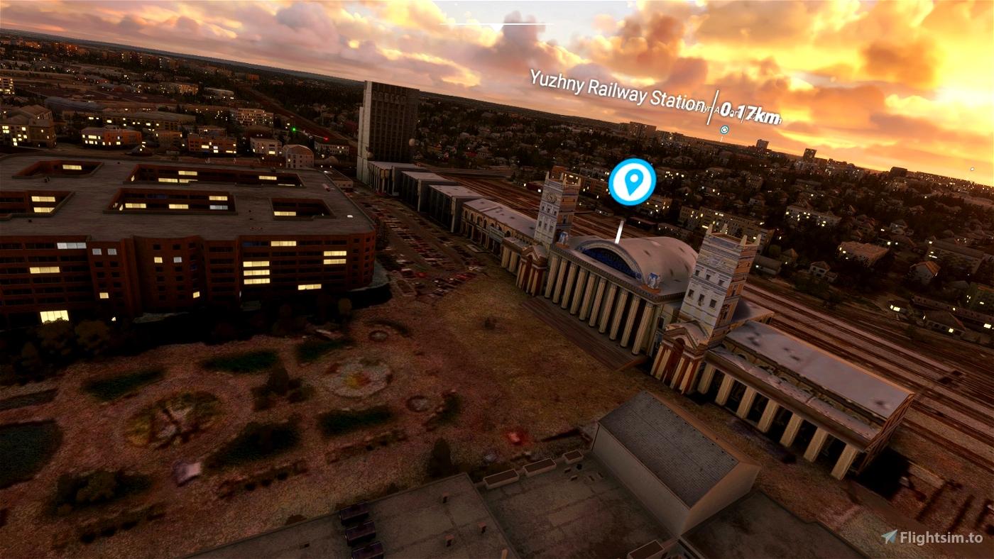 Kharkiv Landmarks Microsoft Flight Simulator