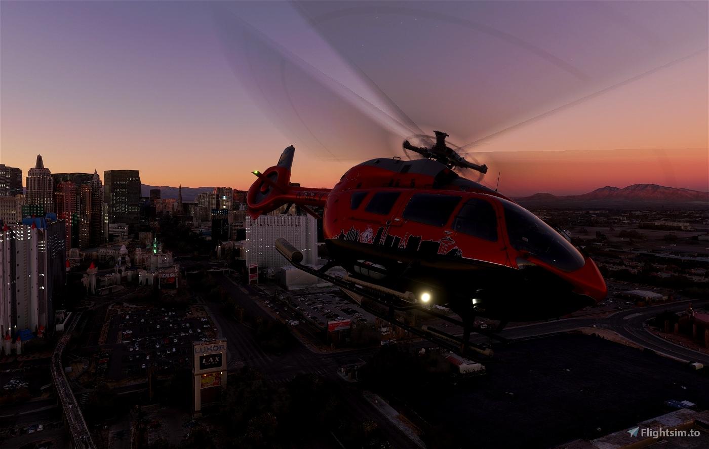 Las Vegas Tours (Fictional)   Airbus H145   8K Microsoft Flight Simulator