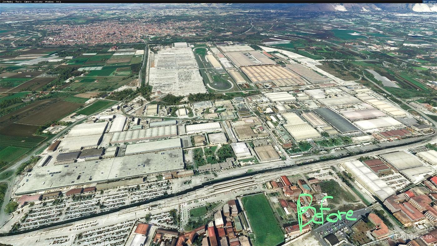 Napoli: Polo industriale Fiat di Pomigliano  Microsoft Flight Simulator