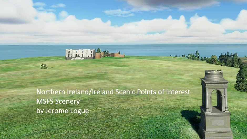Northern Ireland and Ireland Scenic Points Of Interest Microsoft Flight Simulator