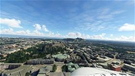 not floating Edinburgh castle Microsoft Flight Simulator