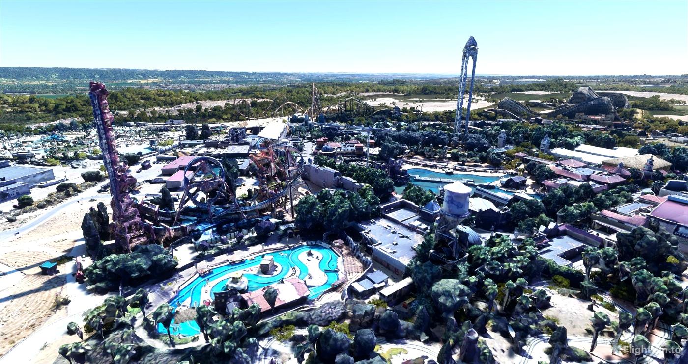 Parque Warner - Madrid - Spain Microsoft Flight Simulator