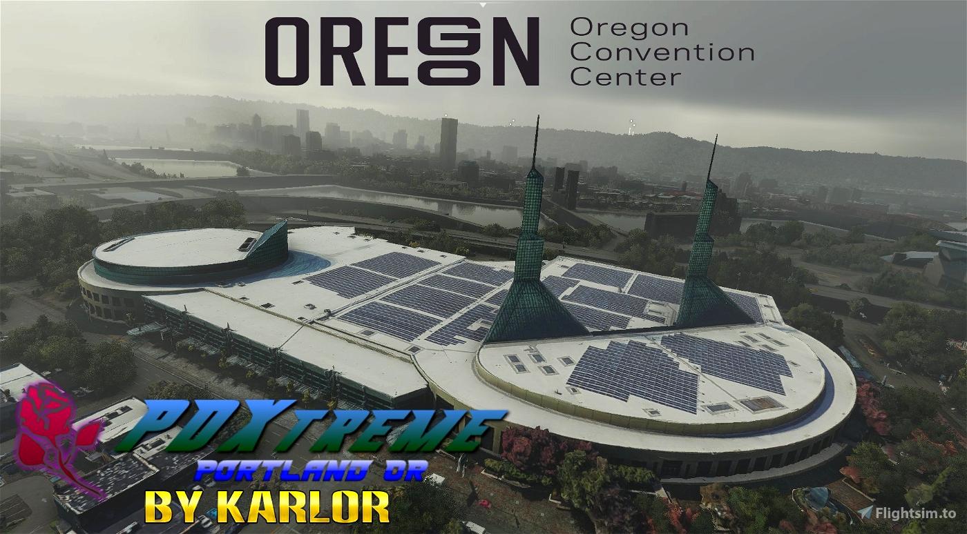 PDXtreme - Convention Center Block -Portland, Oregon Microsoft Flight Simulator