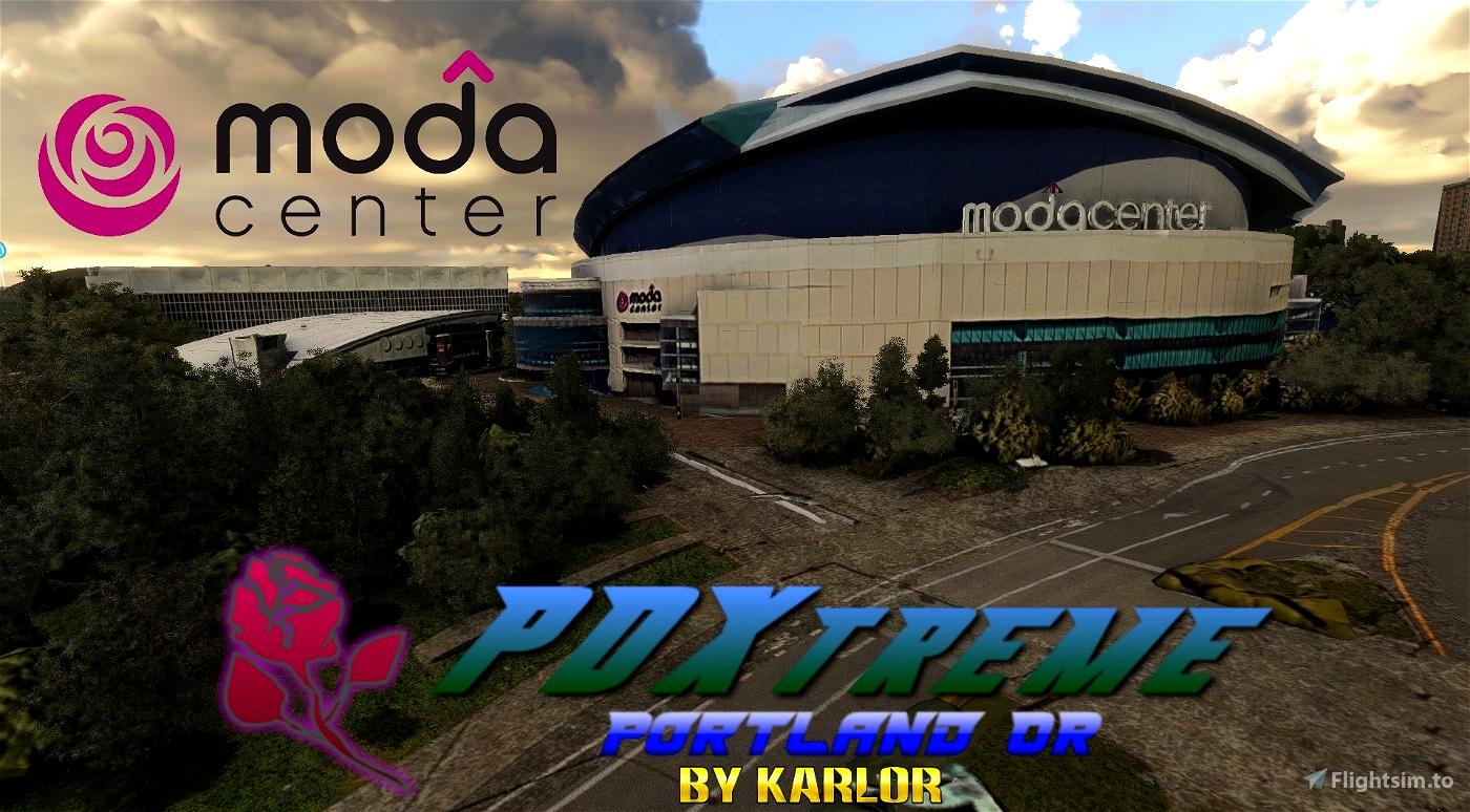 PDXtreme - Moda Center Block - Portland, Oregon Microsoft Flight Simulator